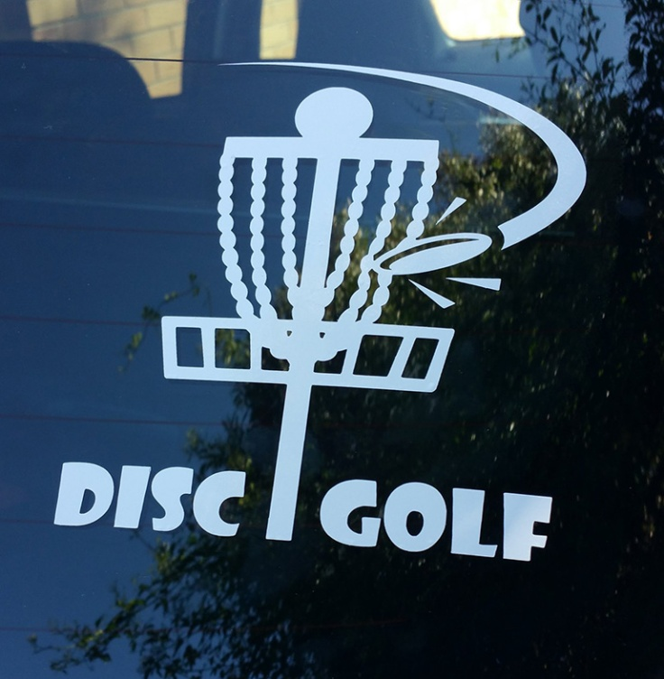 Evelyn's Disc Golf Adventures Basket car decal