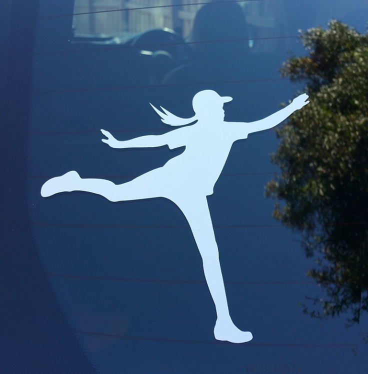 Evelyn's Disc Golf Adventures car decal