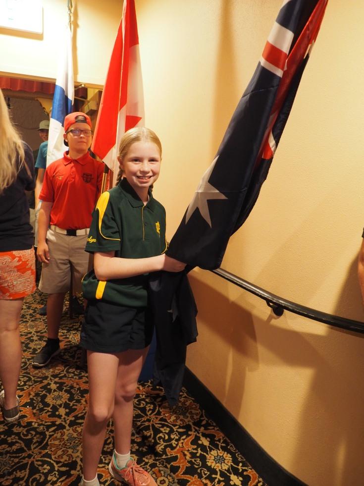 Carrying the flag for Australia