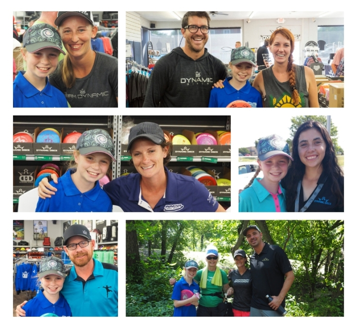 So many disc golf famous faces in Emporia for Junior Worlds. Paige Pierce, Paige Bjerkaas, Tina Oakley, Eric Oakley, Eric McCabe, Hannah Leatherman, Dustin Leatherman
